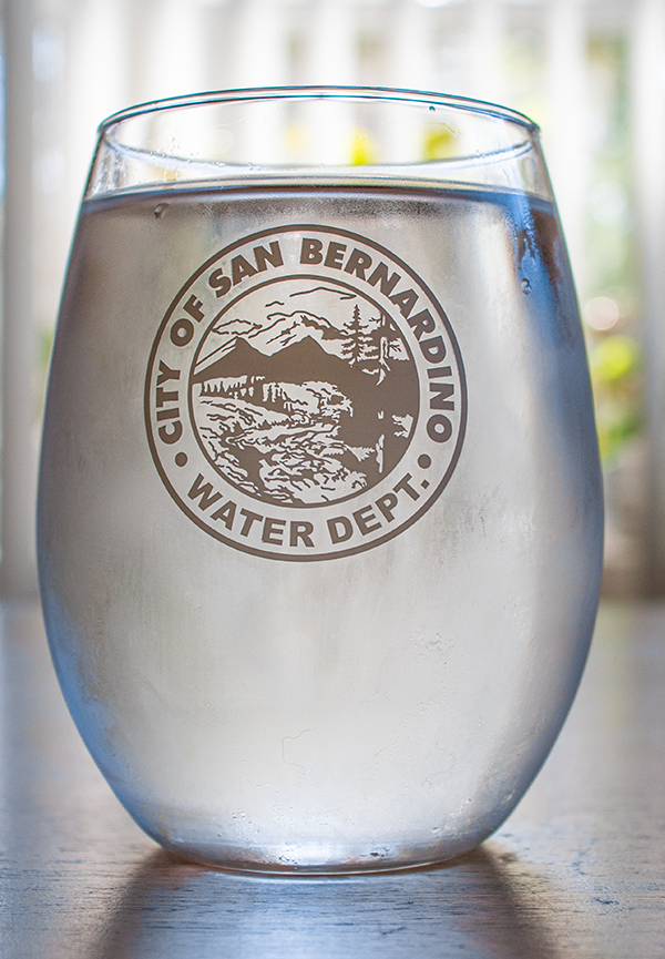 Water in SBMWD logo glass