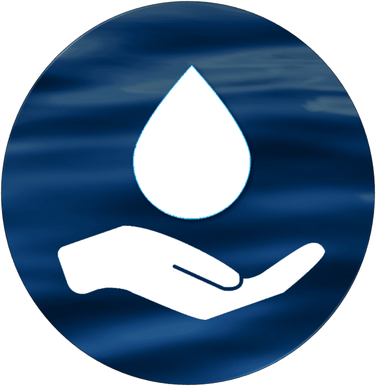 save water hand